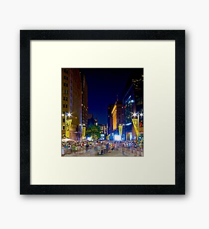 Martin Place - Sydney Festival First Night - Australia Framed Print