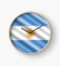 Nation Argentina Clock