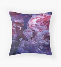 Violet Storm Acrylic Pour Planet Abstract Fluid Art Throw Pillow