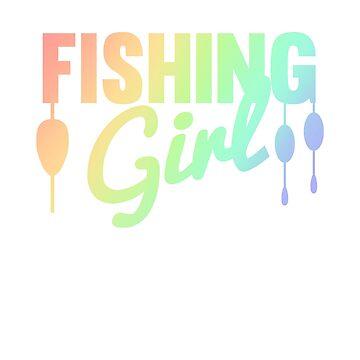 Fishing Girl Cool Fishing Lovers Vintage TeeColorful by Zkoorey