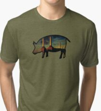 Camiseta de tejido mixto Pink Floyd - animales