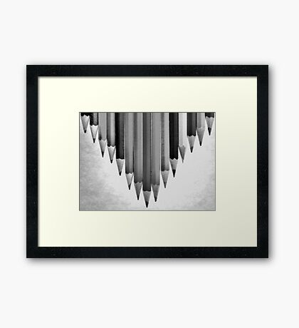 V is for VICTORY! Framed Print