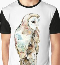 Little owl - watercolour Graphic T-Shirt