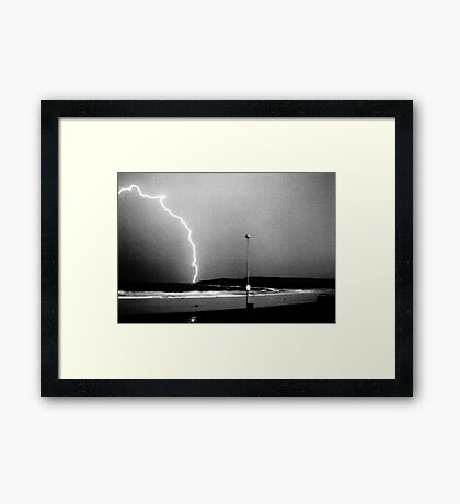Beached Lightning - Sydney - NSW - Australia Framed Print