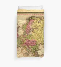 Map of Europe (1849) Duvet Cover
