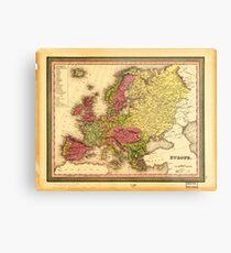 Map of Europe (1849) Metal Print