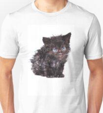 Black wet kitten T-Shirt