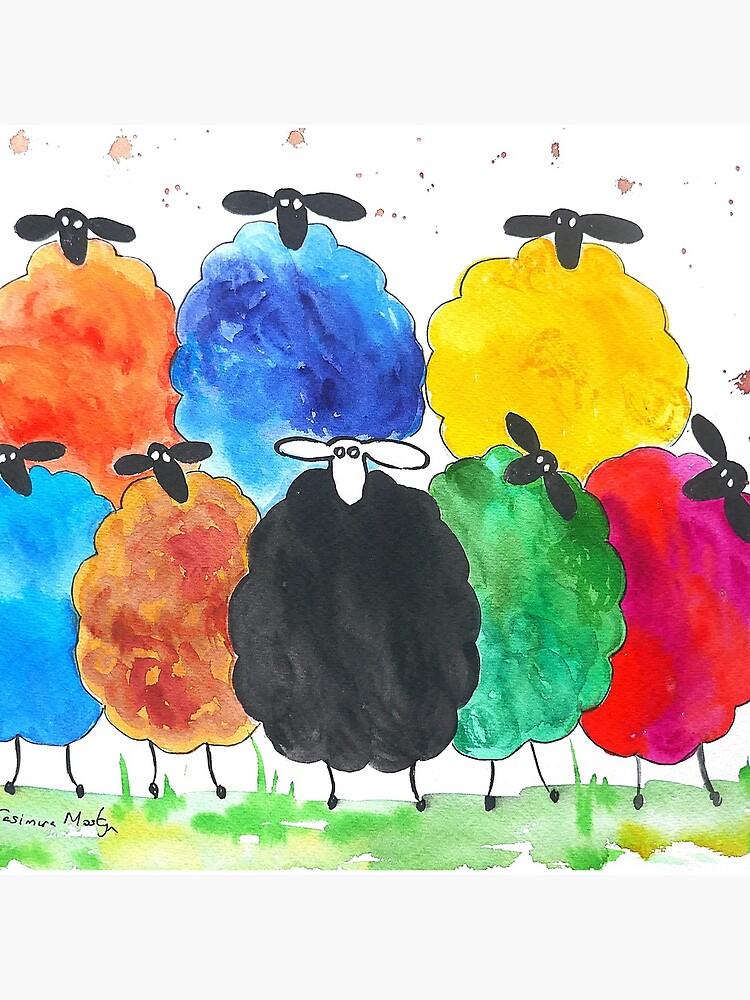 Colorido ovejas 2 de Casimirasart