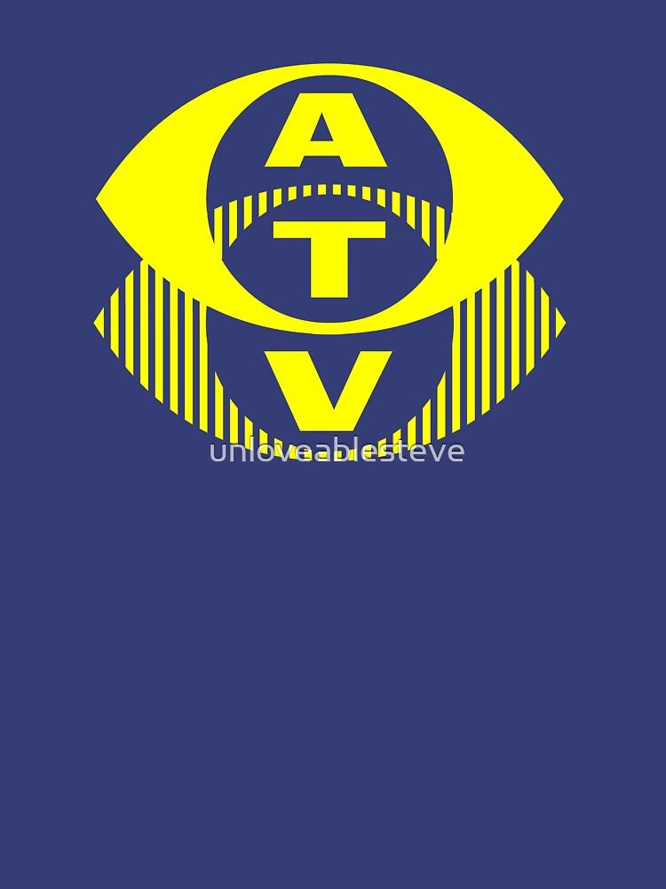 Retro TV ATV in a bright yellow by unloveablesteve