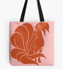 Ninetails, red minimal Tote Bag