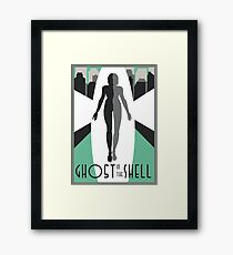 Ghost In The Shell Art Deco Framed Print