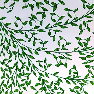 Hand Drawn Design of Green Vines by RiseAndConquer