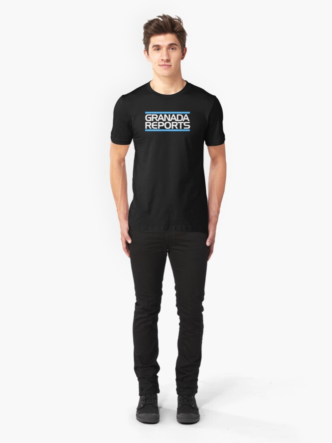 Alternate view of Granada Reports logo 1984-ish Slim Fit T-Shirt