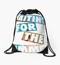 Waiting For The Summer | Beach & Summer Party Cool Drawstring Bag