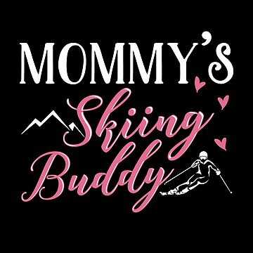 Skiing Mom Baby Designs. Skiing Mom Gift. by KsuAnn