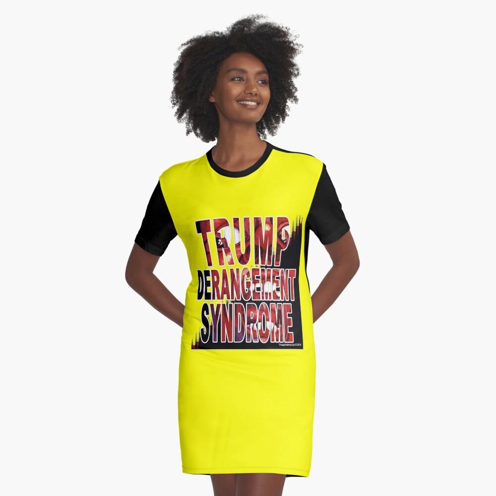 Trump Derangement Syndrome - TDS Graphic T-Shirt Dress Front
