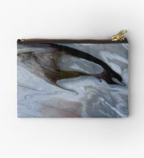 Banded Moon Acrylic Pour Art Studio Pouch