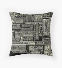 Synthesizer Lover Owner Fan Composition white Throw Pillow