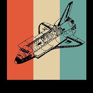 Retro Space Shuttle Vintage Look by apstephens