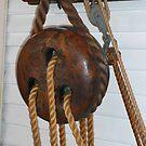 Sailing Ship rope tensioner. (dead-eyes) by Woodie