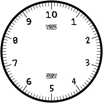 Metric Clock (Black/Yellow Fun Font) by RoufXis