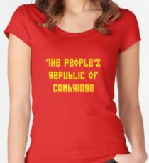 The People's Republic of Cambridge (yellow letters) Women's Fitted Scoop T-Shirt