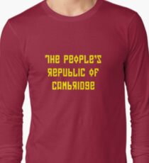 The People's Republic of Cambridge (yellow letters) Long Sleeve T-Shirt