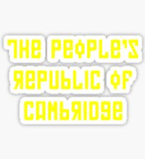 The People's Republic of Cambridge (yellow letters) Sticker