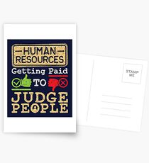 Human Resources HR Get Paid To Judge People Postcards