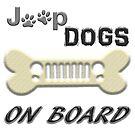 jEEP dogs on board by thatstickerguy