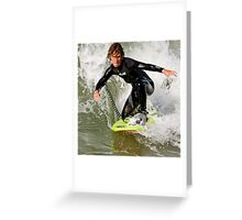 Drop-Knee surfing Greeting Card