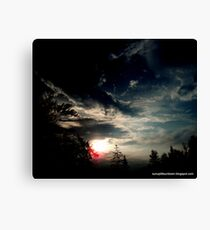 Dark Sunset In Alpena Michigan Canvas Print