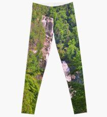 Upper Whitewater Falls North Carolina Summertime Vertical Leggings
