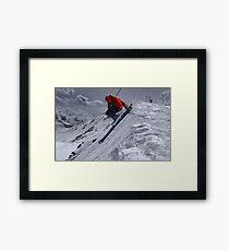 Cornice Leap  Framed Print