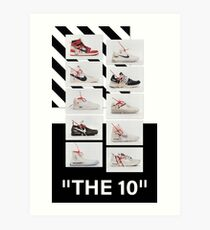 """The 10:"" Off-White - T-Shirts and Stuff Art Print"