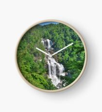 Upper Whitewater Falls North Carolina Summertime Clock