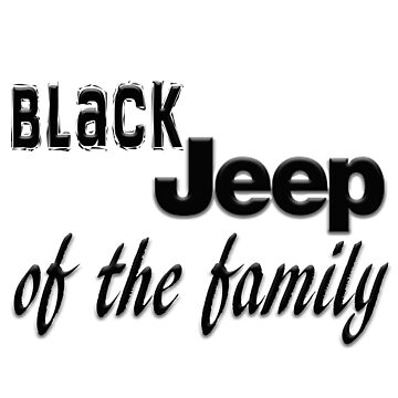 BLACK Jeep of The Family by thatstickerguy