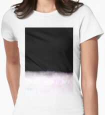 black and white abstract painting in minimal style Women's Fitted T-Shirt