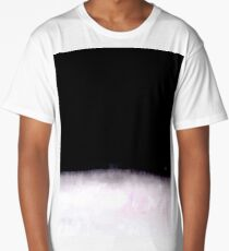 black and white abstract painting in minimal style Long T-Shirt