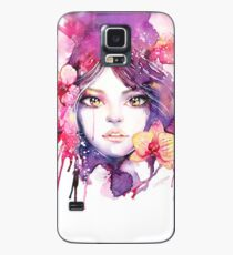 Orchid Mistress. Watercolor fashion illustration Case/Skin for Samsung Galaxy