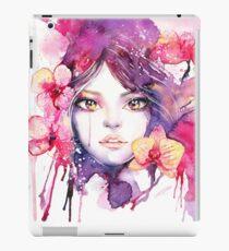 Orchid Mistress. Watercolor fashion illustration iPad Case/Skin