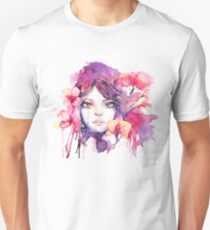 Orchid Mistress. Watercolor fashion illustration Unisex T-Shirt