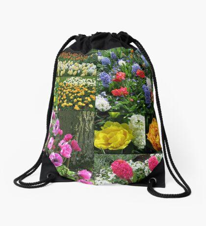 Keukenhof Collage featuring Anemones and Hyacinths Turnbeutel