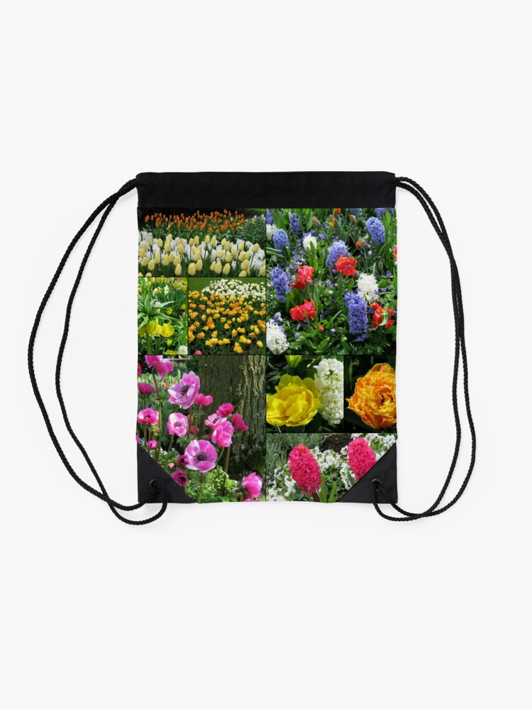 Alternative Ansicht von Keukenhof Collage featuring Anemones and Hyacinths Turnbeutel
