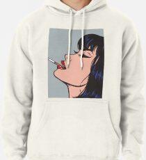 Rauchendes Mädchen Hoodie