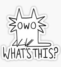 Gay OWO Cat Sticker