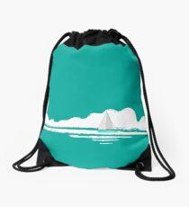 Come Sail Away - teal version Drawstring Bag