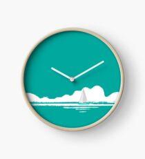 Come Sail Away - teal version Clock
