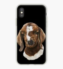 Portrait of a Goat  - Boer Goat Baby Nicklaus  iPhone Case