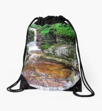 Adams Falls, 2018.07.17 Drawstring Bag